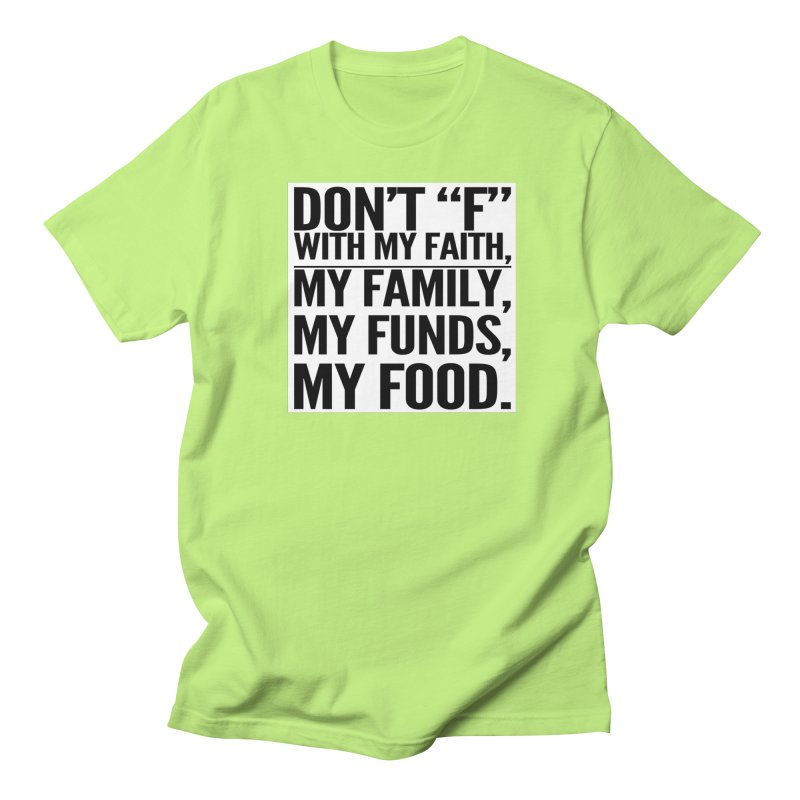 """Don't """"F"""" Men's Regular T-Shirt by IF Creation's Artist Shop"""