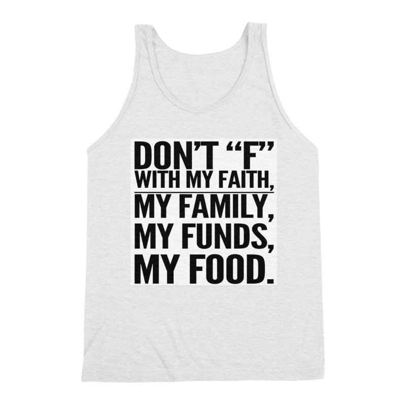 """Don't """"F"""" Men's Triblend Tank by IF Creation's Artist Shop"""