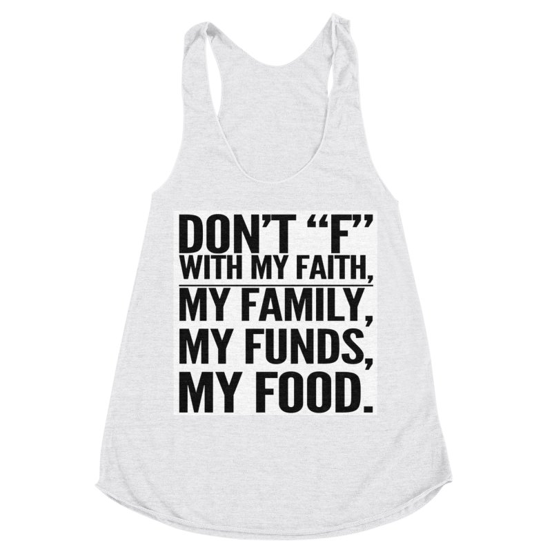 """Don't """"F"""" Women's Racerback Triblend Tank by IF Creation's Artist Shop"""