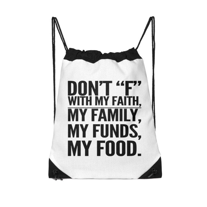 "Don't ""F"" Accessories Drawstring Bag Bag by IF Creation's Artist Shop"