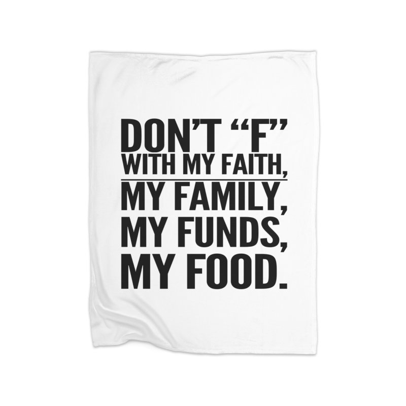 "Don't ""F"" Home Fleece Blanket Blanket by IF Creation's Artist Shop"