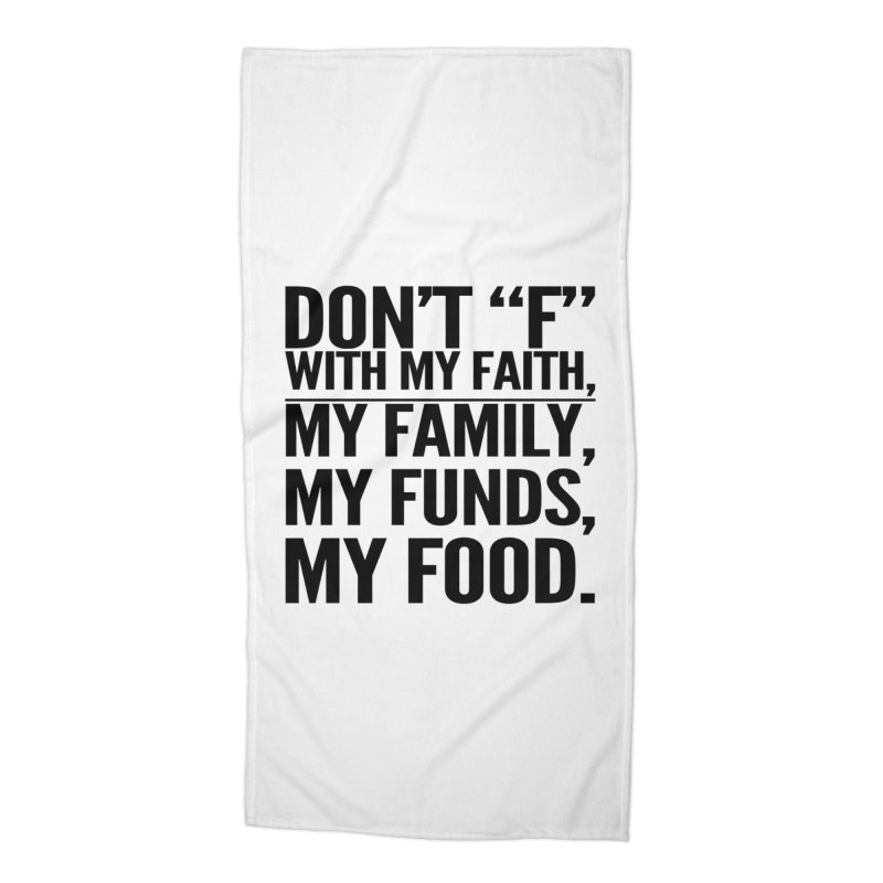 "Don't ""F"" Accessories Beach Towel by IF Creation's Artist Shop"