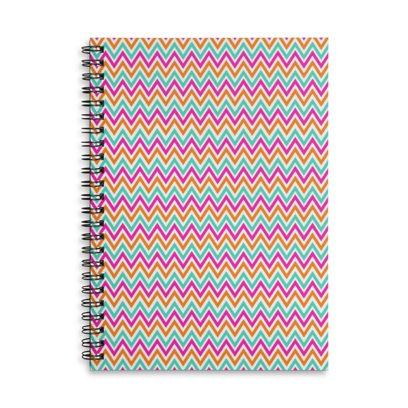 PASTEL ZIGZAG Accessories Lined Spiral Notebook by IF Creation's Artist Shop