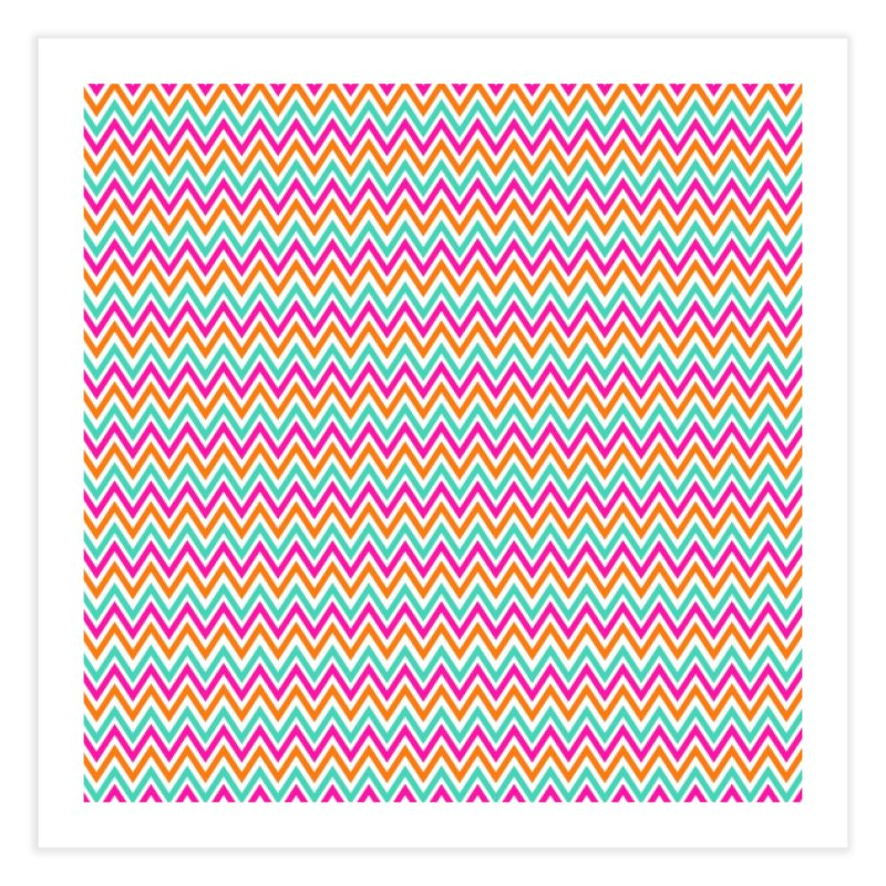 PASTEL ZIGZAG Home Fine Art Print by IF Creation's Artist Shop