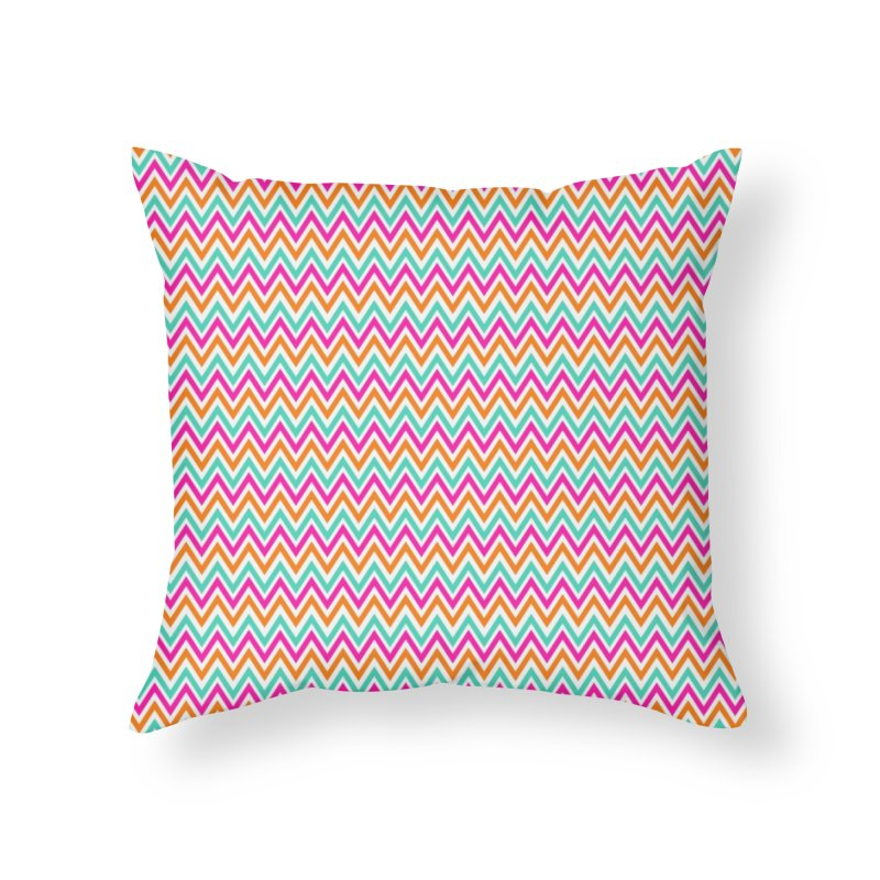 PASTEL ZIGZAG Home Throw Pillow by IF Creation's Artist Shop