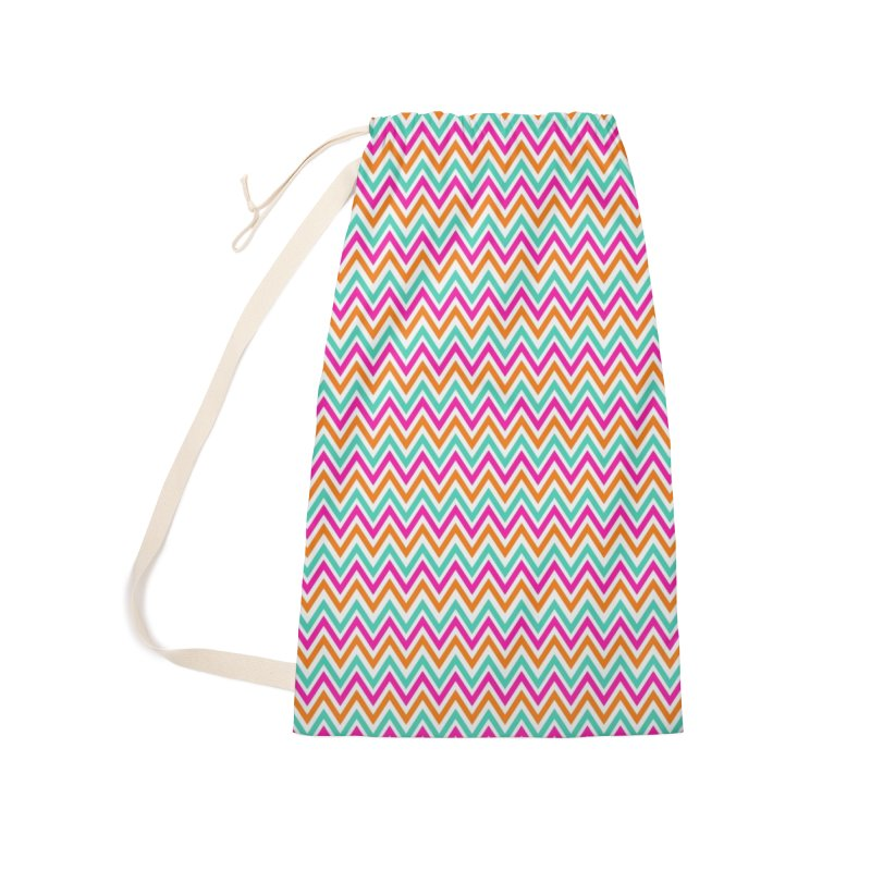 PASTEL ZIGZAG Accessories Laundry Bag Bag by IF Creation's Artist Shop