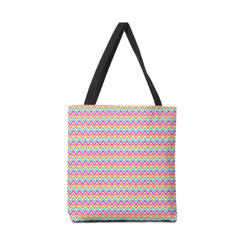 PASTEL ZIGZAG Accessories Bag by IF Creation's Artist Shop
