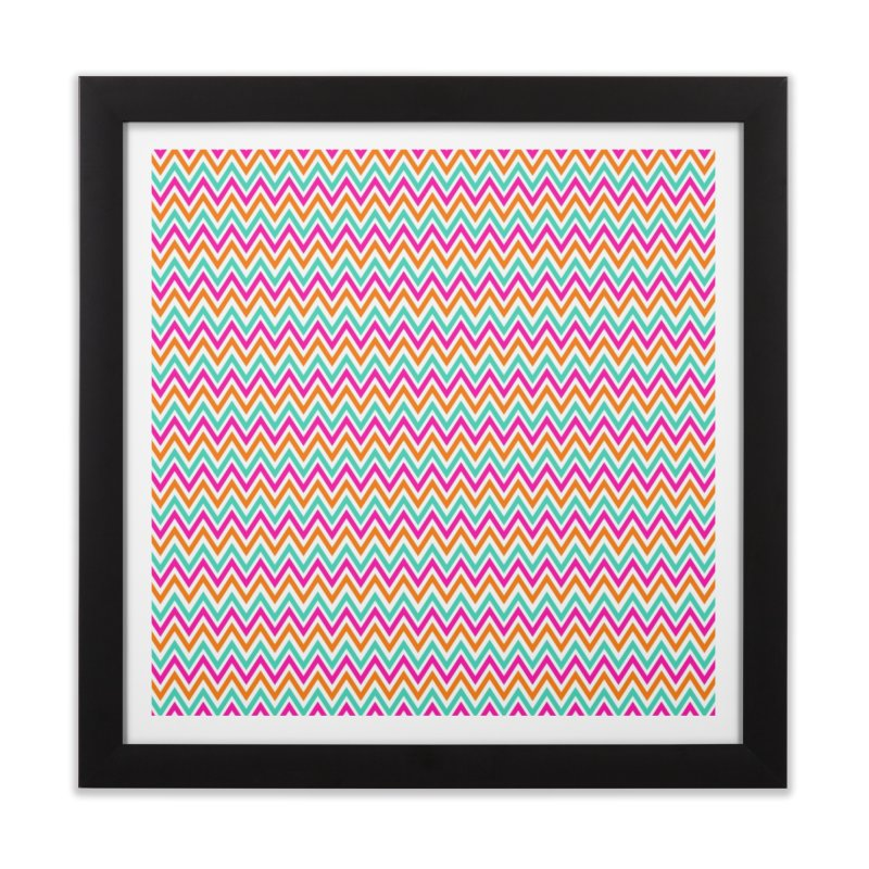 PASTEL ZIGZAG Home Framed Fine Art Print by IF Creation's Artist Shop