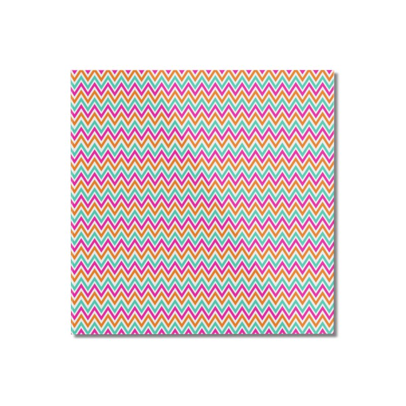 PASTEL ZIGZAG Home Mounted Acrylic Print by IF Creation's Artist Shop