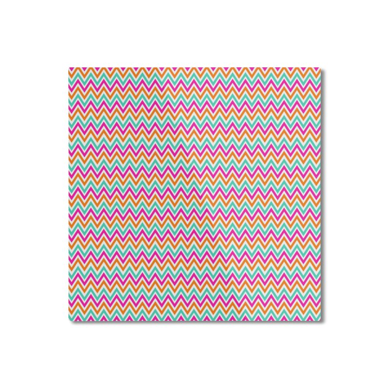 PASTEL ZIGZAG Home Mounted Aluminum Print by IF Creation's Artist Shop