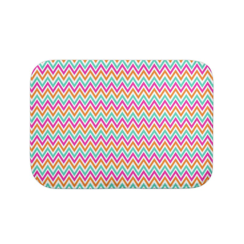 PASTEL ZIGZAG Home Bath Mat by IF Creation's Artist Shop