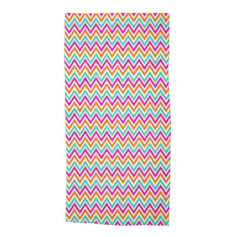 PASTEL ZIGZAG Accessories Beach Towel by IF Creation's Artist Shop