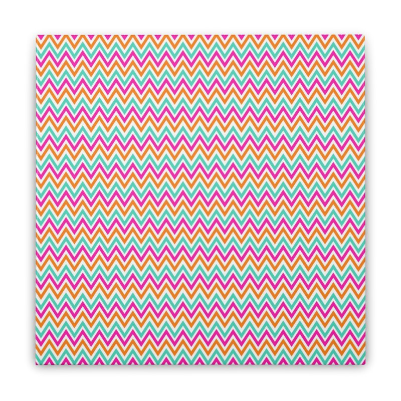 PASTEL ZIGZAG Home Stretched Canvas by IF Creation's Artist Shop