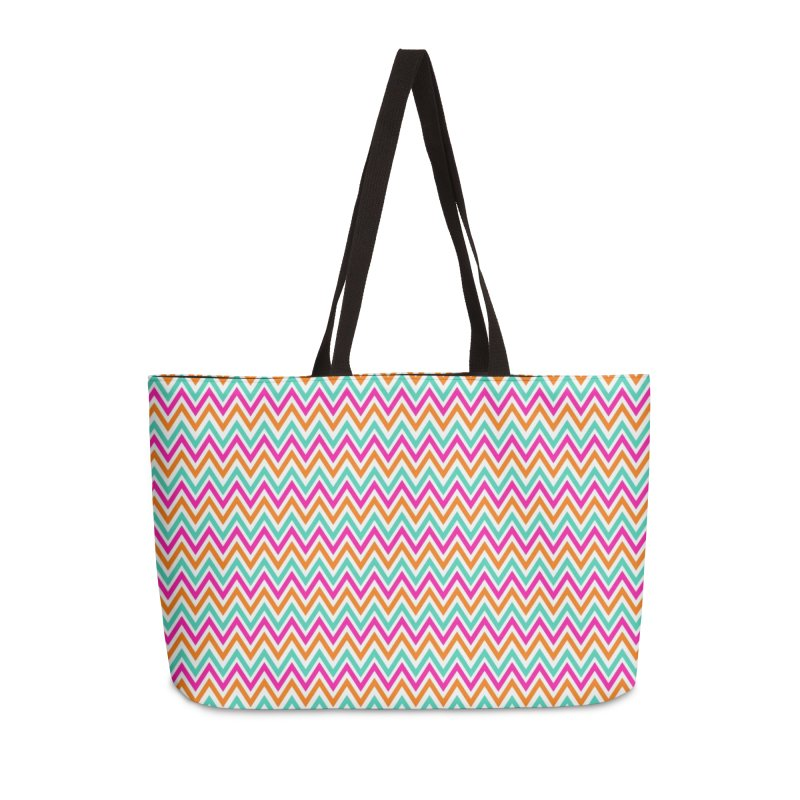 PASTEL ZIGZAG Accessories Weekender Bag Bag by IF Creation's Artist Shop
