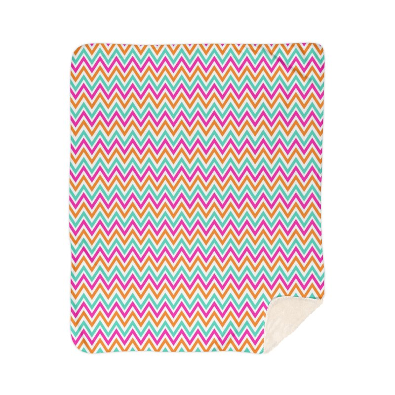 PASTEL ZIGZAG Home Sherpa Blanket Blanket by IF Creation's Artist Shop