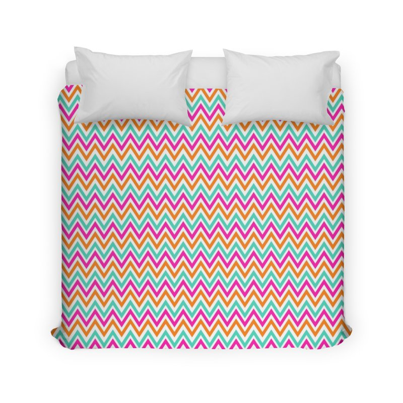 PASTEL ZIGZAG Home Duvet by IF Creation's Artist Shop