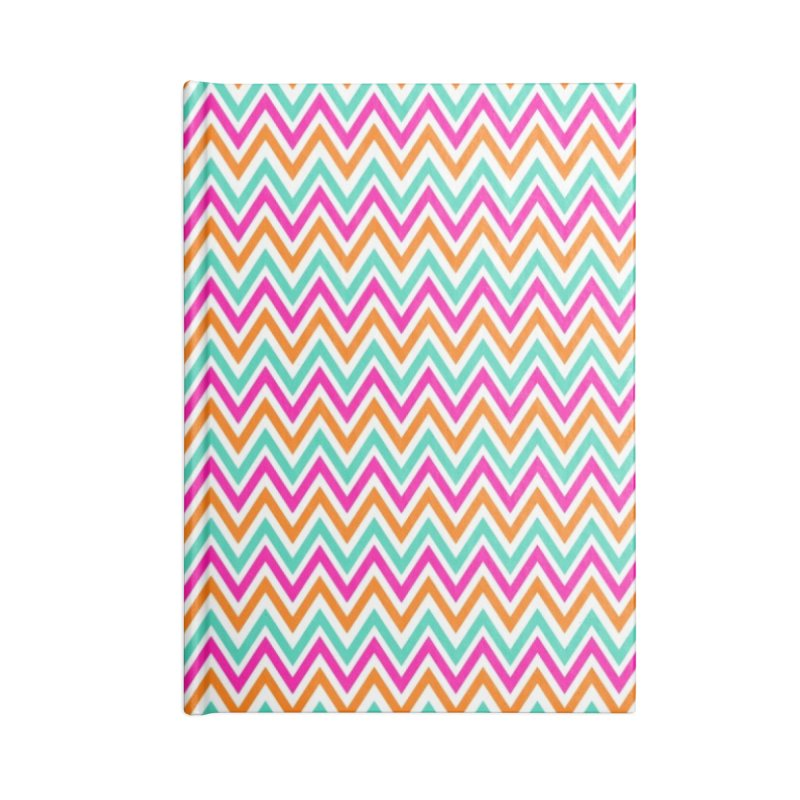 PASTEL ZIGZAG Accessories Blank Journal Notebook by IF Creation's Artist Shop