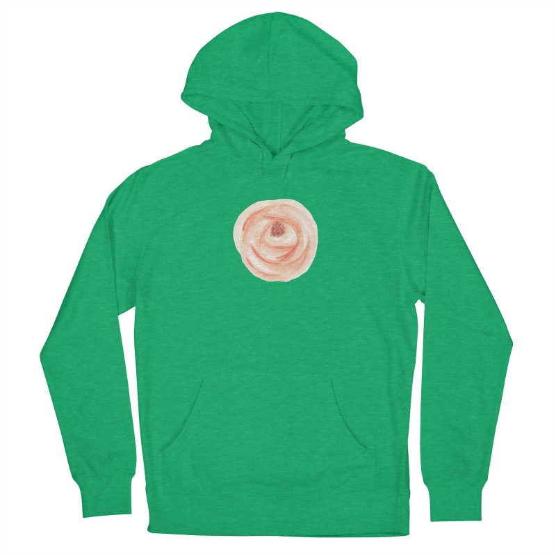 PEACH FLOWER Women's French Terry Pullover Hoody by IF Creation's Artist Shop