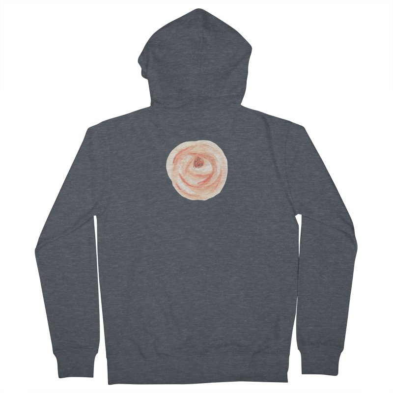 PEACH FLOWER Women's French Terry Zip-Up Hoody by IF Creation's Artist Shop