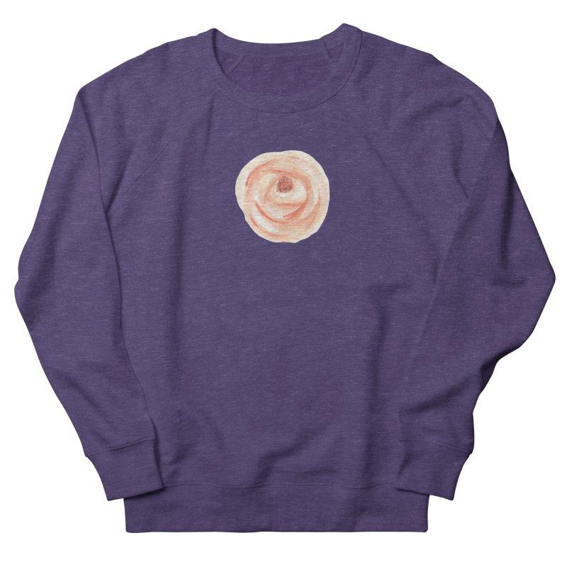 PEACH FLOWER Women's French Terry Sweatshirt by IF Creation's Artist Shop