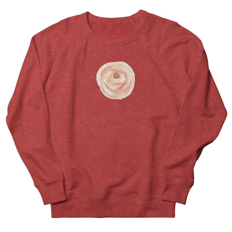 PEACH FLOWER Women's French Terry Sweatshirt by IF Creation's Artist Shop
