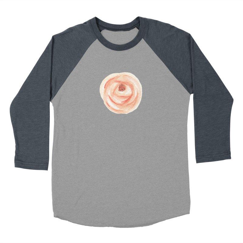 PEACH FLOWER Women's Baseball Triblend Longsleeve T-Shirt by IF Creation's Artist Shop