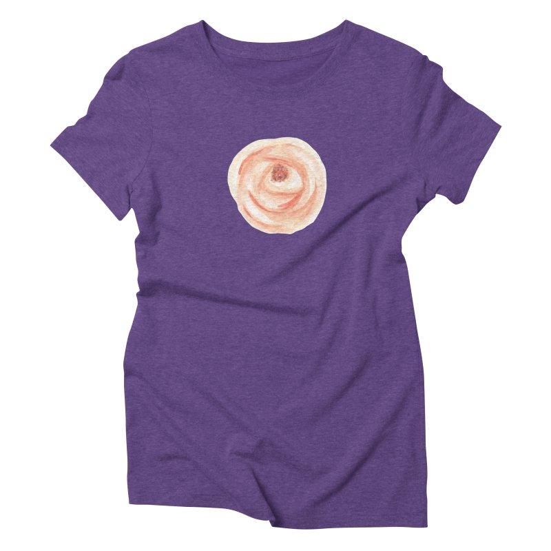 PEACH FLOWER Women's Triblend T-Shirt by IF Creation's Artist Shop