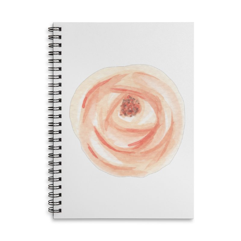 PEACH FLOWER Accessories Lined Spiral Notebook by IF Creation's Artist Shop