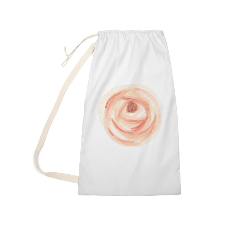 PEACH FLOWER Accessories Laundry Bag Bag by IF Creation's Artist Shop
