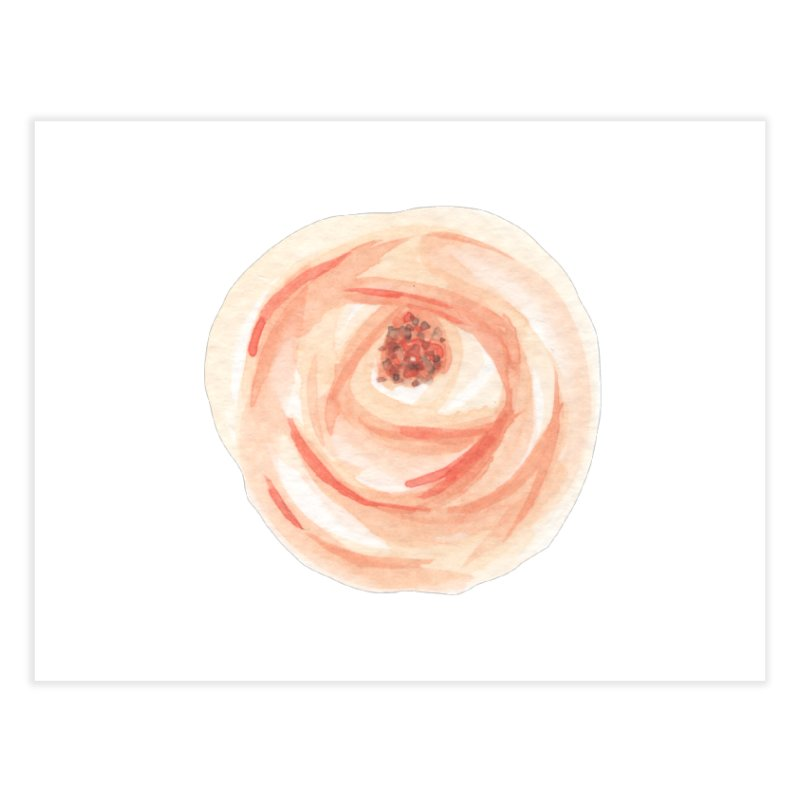 PEACH FLOWER Home Fine Art Print by IF Creation's Artist Shop