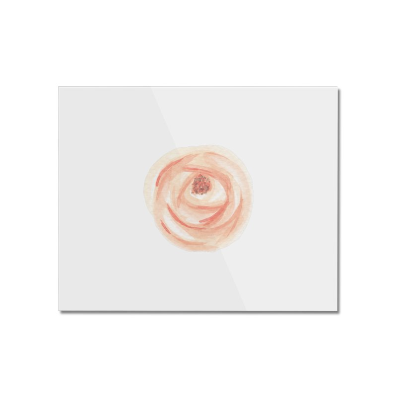 PEACH FLOWER Home Mounted Acrylic Print by IF Creation's Artist Shop