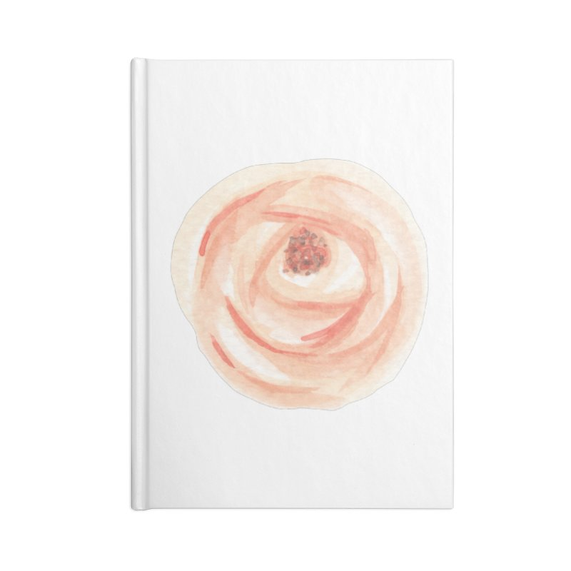 PEACH FLOWER Accessories Blank Journal Notebook by IF Creation's Artist Shop