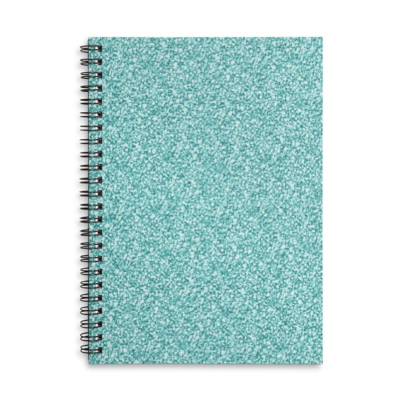 AQUA GLITTER Accessories Lined Spiral Notebook by IF Creation's Artist Shop