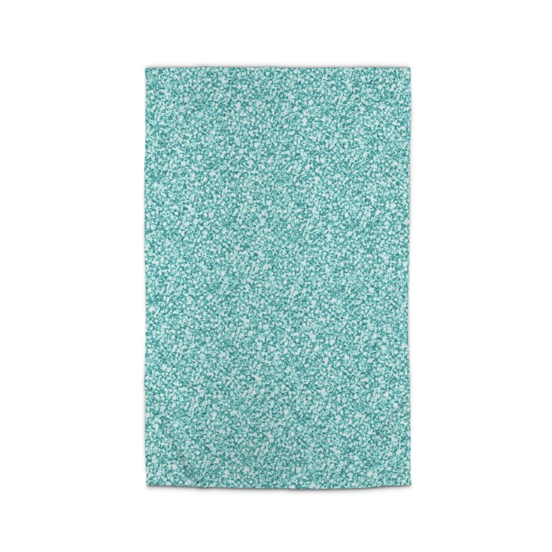 AQUA GLITTER Home Rug by IF Creation's Artist Shop