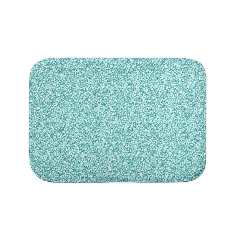 AQUA GLITTER Home Bath Mat by IF Creation's Artist Shop
