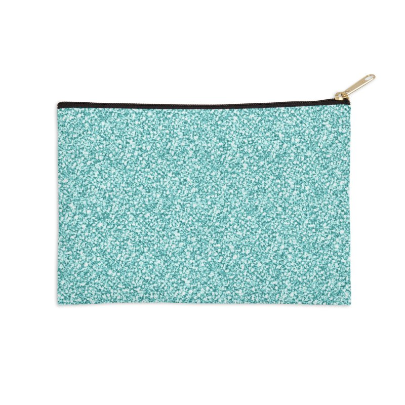 AQUA GLITTER Accessories Zip Pouch by IF Creation's Artist Shop