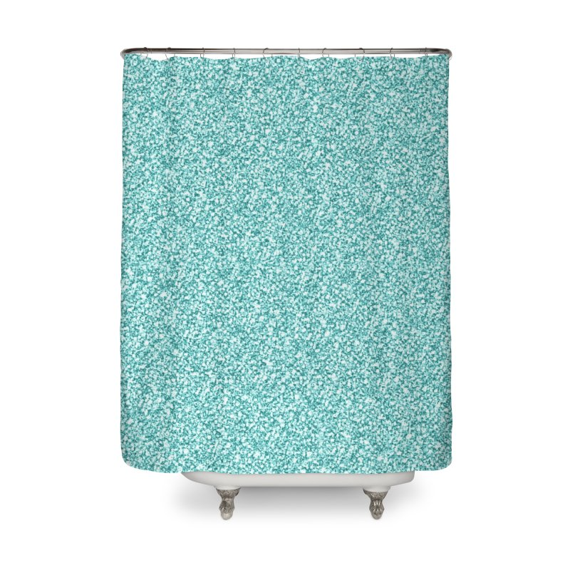 AQUA GLITTER Home Shower Curtain by IF Creation's Artist Shop