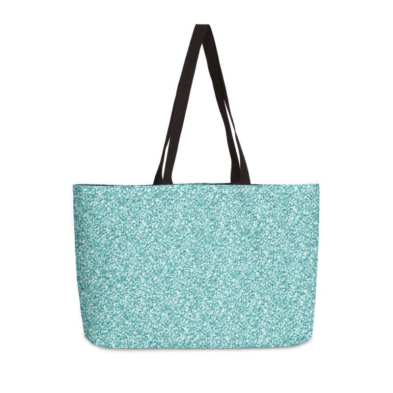 AQUA GLITTER Accessories Weekender Bag Bag by IF Creation's Artist Shop