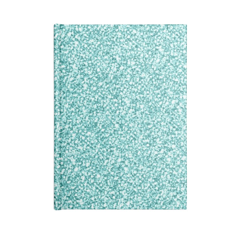 AQUA GLITTER Accessories Blank Journal Notebook by IF Creation's Artist Shop
