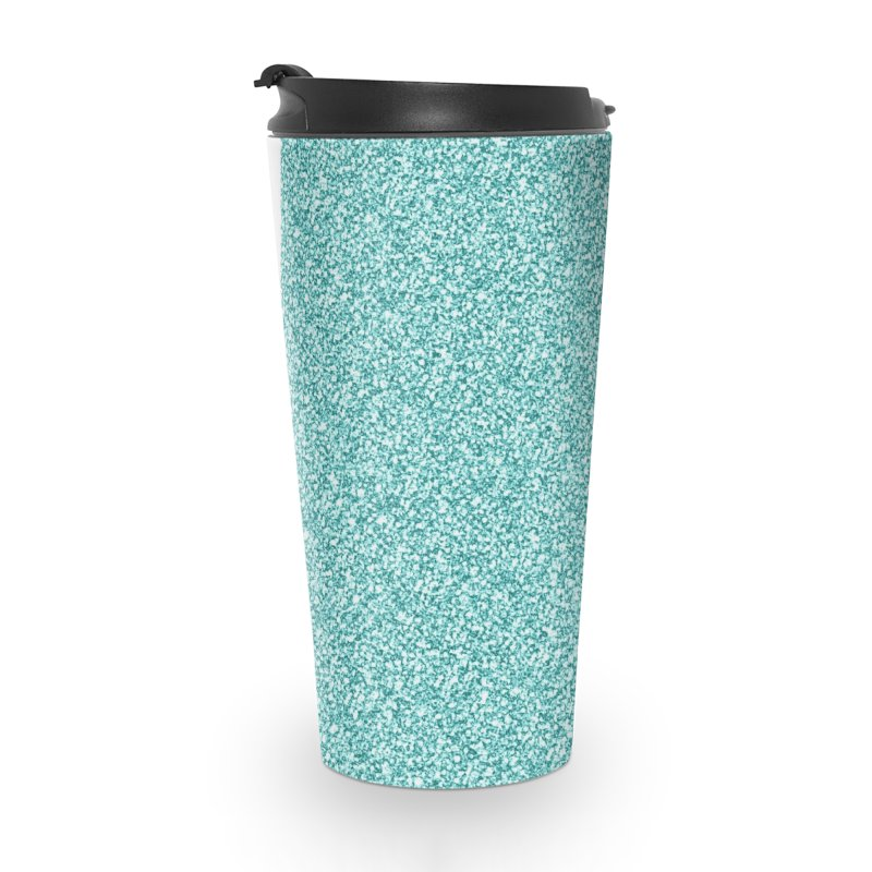 AQUA GLITTER Accessories Travel Mug by IF Creation's Artist Shop