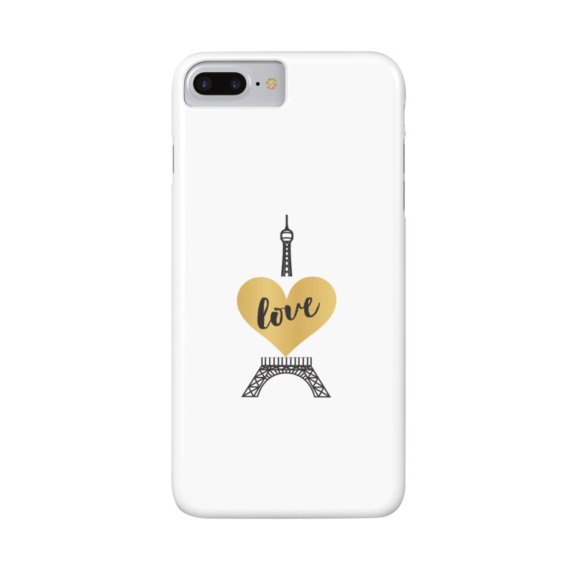 EIFFEL TOWER & GOLD HEART Accessories Phone Case by IF Creation's Artist Shop