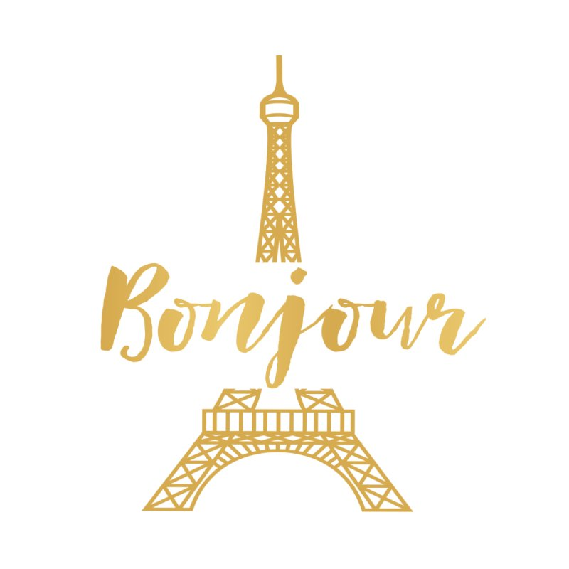 BONJOUR! EIFFEL TOWER Women's T-Shirt by IF Creation's Artist Shop