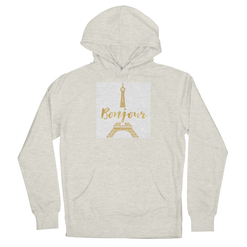 BONJOUR! EIFFEL TOWER Women's French Terry Pullover Hoody by IF Creation's Artist Shop