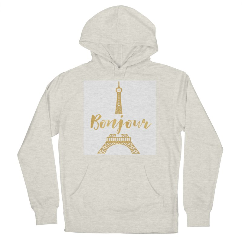 BONJOUR! EIFFEL TOWER Men's French Terry Pullover Hoody by IF Creation's Artist Shop