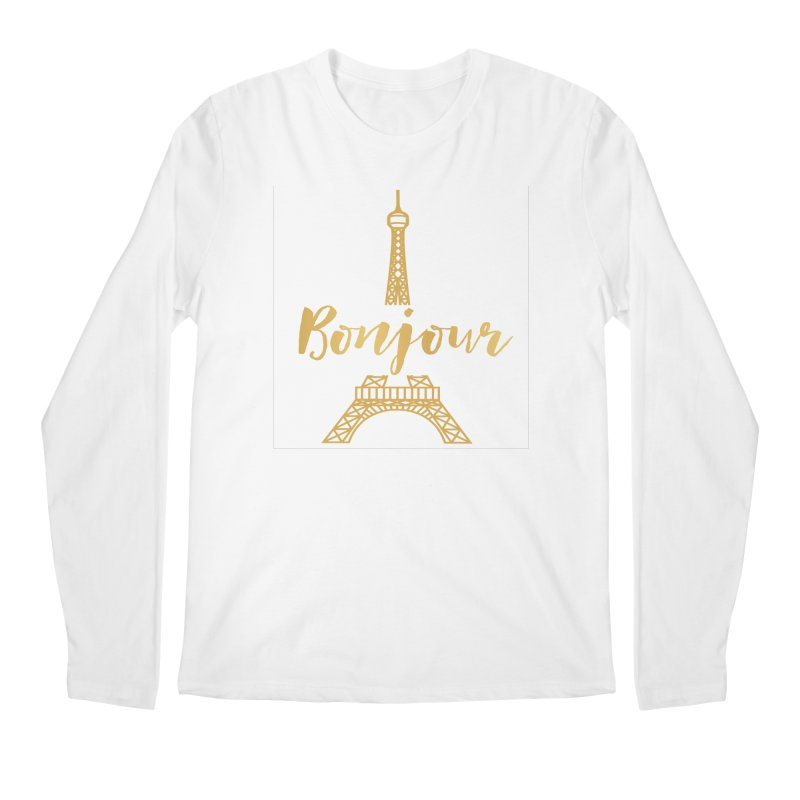 BONJOUR! EIFFEL TOWER Men's Longsleeve T-Shirt by IF Creation's Artist Shop