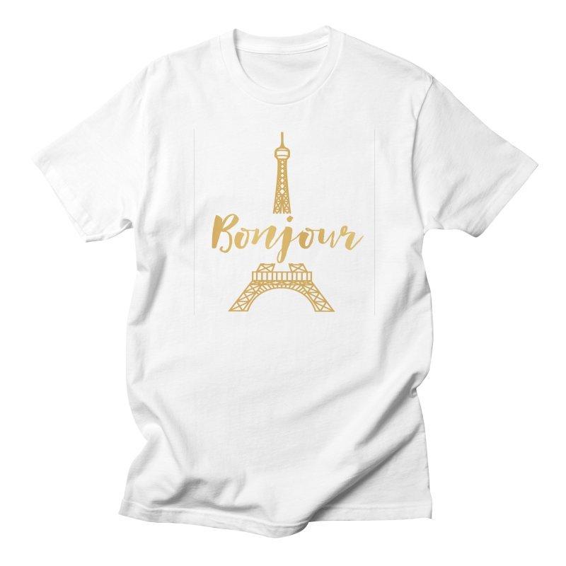 BONJOUR! EIFFEL TOWER Men's Regular T-Shirt by IF Creation's Artist Shop