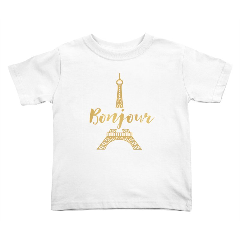 BONJOUR! EIFFEL TOWER Kids Toddler T-Shirt by IF Creation's Artist Shop