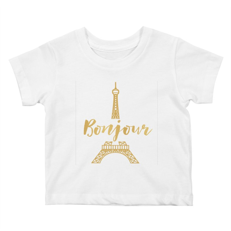 BONJOUR! EIFFEL TOWER Kids Baby T-Shirt by IF Creation's Artist Shop