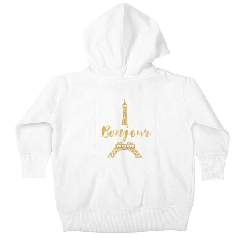 BONJOUR! EIFFEL TOWER Kids Baby Zip-Up Hoody by IF Creation's Artist Shop
