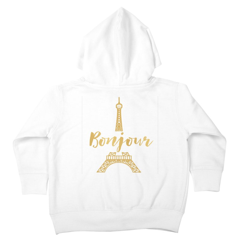 BONJOUR! EIFFEL TOWER Kids Toddler Zip-Up Hoody by IF Creation's Artist Shop